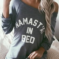 Namastay In Bed Sweatshirt - Grey