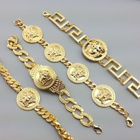 8DESS Versace Women Fashion Chain Bracelet Jewelry