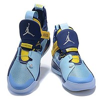 Jordan 33 Fashion New running sports leisure shoes men Blue