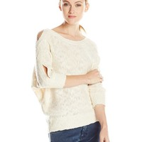 Jessica Simpson Women's Riah Sweater with Braided Sleeves