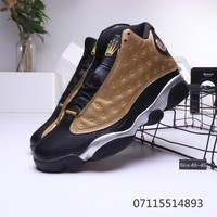 Rolex x Air Jordan 13 Retro Black Gold Metal Silver Sneaker
