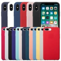 Have LOGO Original Silicone Case For iPhone 7 8 Plus Official Silicon Cover For iPhone 6 6S Phone Case For iPhone X 5 5S Capa