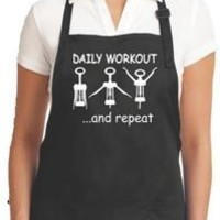 Barbecue Grill Apron, Daily Workout Kitchen Apron