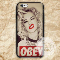 Marilyn Monroe Obey Style iPhone 4/4S, 5/5S, 5C Series, Samsung Galaxy S3, Samsung Galaxy S4, Samsung Galaxy S5 - Hard Plastic, Rubber Case