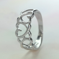 Full of love ring / Pure nd noble / 925 sterling silver / Great enough to express your purity(6,7,8,9,10,11,us)
