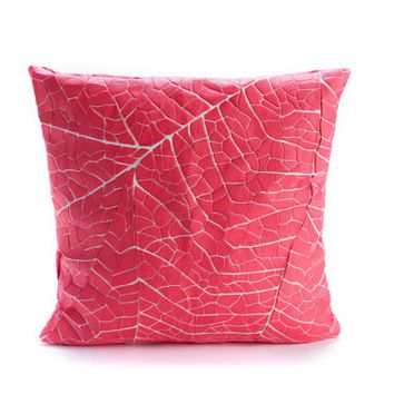 Coral Pink Throw Pillow