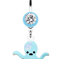 Super Sweet Octopus Belly Button Ring