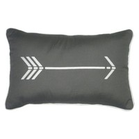 Arrow Icon Embroidered Pillow (12 x 18)