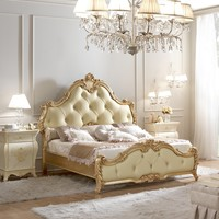 Double bed with upholstered headboard GIOTTO BAROCCO Glamour Collection by Gotha Luxury Italian Style
