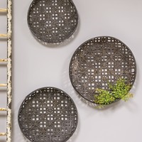 Woven Tobacco Style Baskets | Set Of 3