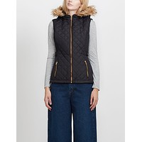 Quilted Puffer Jacket Vest with Detachable Hoodie (CLEARANCE)