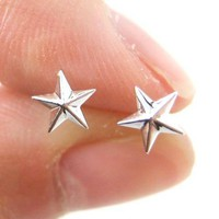 Classic Star Shaped Plastic Post Stud Earrings | ALLERGY FREE