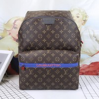 LV Louis Vuitton Fashion Women Men Casual Daypack School Bag Travel Bag Leather Backpack I-AGG-CZDL