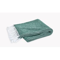 Matouk Pezzo Jade Cotton Throw