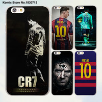 Football Style Cr7 Messi Neymar Football Series Hard Clear Mobile Phone Case For Apple Iphone 7 6 6S Plus Se 4S 5 5S 5C