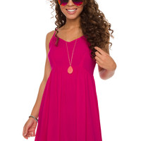 Annalise Dress - Fuchsia