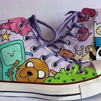 Adventure Time Custom Converse- Painted Shoes by BlingLogo