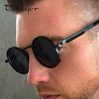 Dollger Steampunk Round Sunglasses Women Men 2017 Brand Designer REVO Coating Mirror Mens Sun Glasses Oculos Gafas de sol s0339