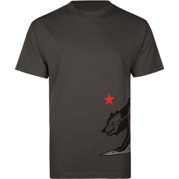 Infamous State Mens T-Shirt Charcoal  In Sizes