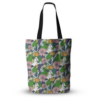"""Catherine Holcombe """"Spring Foliage"""" Floral Pastels Everything Tote Bag"""