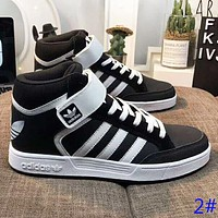 Adidas New fashion high top couple sports leisure shoes
