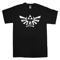 trifoce zelda the legend of zelda For T-shirt Unisex Adults size S-2XL Black and White