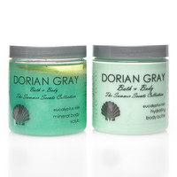 Eucalyptus Rain Moist Mineral Body Scrub and Hydrating Body Butter 2 Piece Set