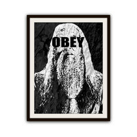 Albus Dumbledore Harry Potter Typography OBEY Poster