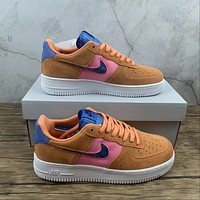 Morechoice Tuhz Nike Air Force 1 07 Lv8 Orange Trance Low Sneakers Casual Skaet Shoes Cw7300-800
