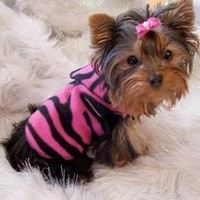 BLACK FLIPS Dog Clothes Snuggly Vest XXXS to Med by valygal