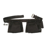 90423 - 10 Pocket Carpenter's Tool Belt in Top Grain Oiled Leather