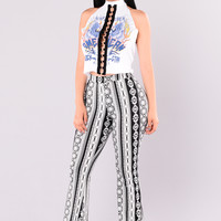 Lita Pants - Black/White
