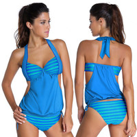 swimsuit 2 pieces suits Lady suit Halter Sexy Brazilian Bikini Set  Fashion Swimsuit String  Lined Up Double Up swimwear