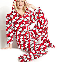 Hello Kitty Pajamas, Kitty Forever Fleece Hoodie Footie Pajamas - Womens Lingerie - Macy's