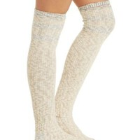 Combo Nubby Marled Over-the-Knee Socks by Charlotte Russe