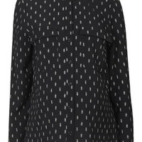 MATERNITY Arrow Print Shirt - Monochrome