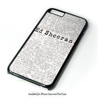 Ed Sheeran Tumblr Design for iPhone and iPod Touch Case