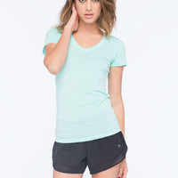Active V Neck Womens Tee Wave  In Sizes
