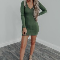 Guided By The Stars Dress: Olive
