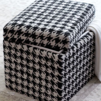 Houndstooth Storage Cube - Horchow
