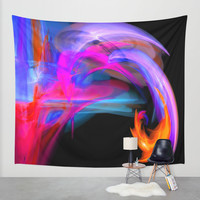 abstract feathers Wall Tapestry by Haroulita