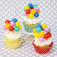 Shop Sweet Lulu - Bright Balloons Cupcake Toppers