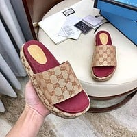 GUCCI GG Fashion Canvas Sandal