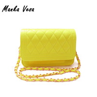 Manka Vesa New 2016 Women Messenger Bag Fashion women Handbag Quilted Fresh Girls Bags One Shoulder Small Women's Cross body Bag