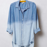Dip-Dye Chambray Buttondown