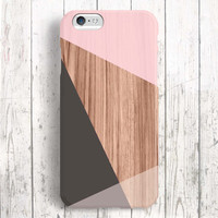 iPhone 6 Case, iPhone 6 Plus Case, iPhone 5S Case, iPhone 6, iPhone 5C Case, iPhone 4S Case, iPhone 4 Case - Wood Block Pink