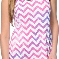 Empyre Terri Galaxy Chevron Ladderback Tank Top