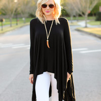 All Or Nothing Tunic - Black
