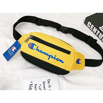 Champion sells patchwork color printed Fanny packs for fashionable casual ladies with an inclined cross Fanny pack Yellow