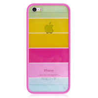 Pink Strip Hard Back Cover Case for iPhone 5 & 5S